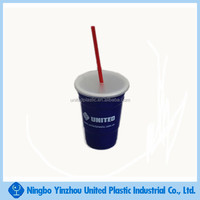 New style 720ml double insulated plastic drinking cups with lids and straw