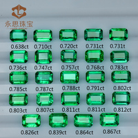 Green Natural Colombia Emerald Stone Emerald Cut Loose Natural Stone Heated Treatment Wholesale In China