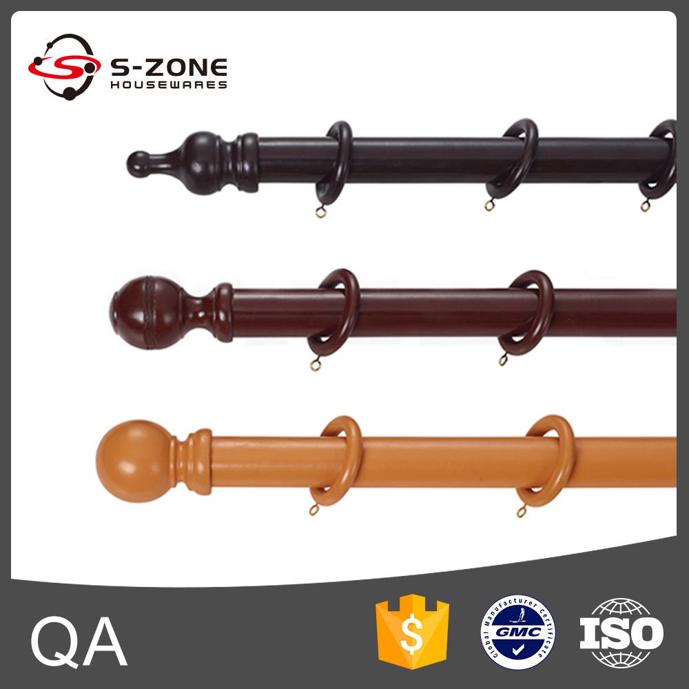ZW30 Wooden Bamboo Curtain Rod