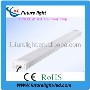 High quality 1.2M 60w office &tri-proof led linear pendant light