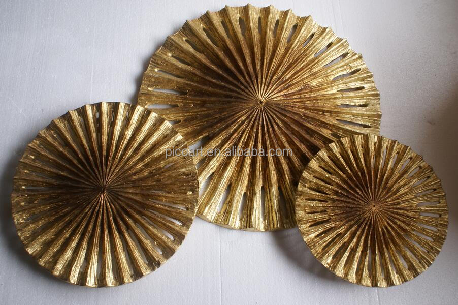 Contemporary home wall decor sculpture Metal wall circle art sculpture