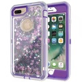 Liquid glittering quicksand case back cover for iPhone 7 7Plus With Clip