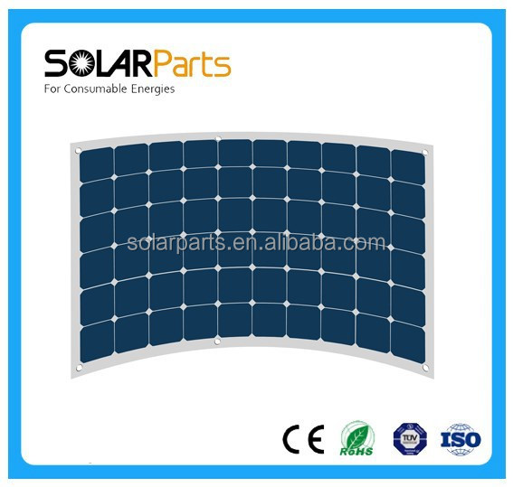 China Factory Directly 180W 24V Flexible Solar Panel for Marine RV Roof Car Home