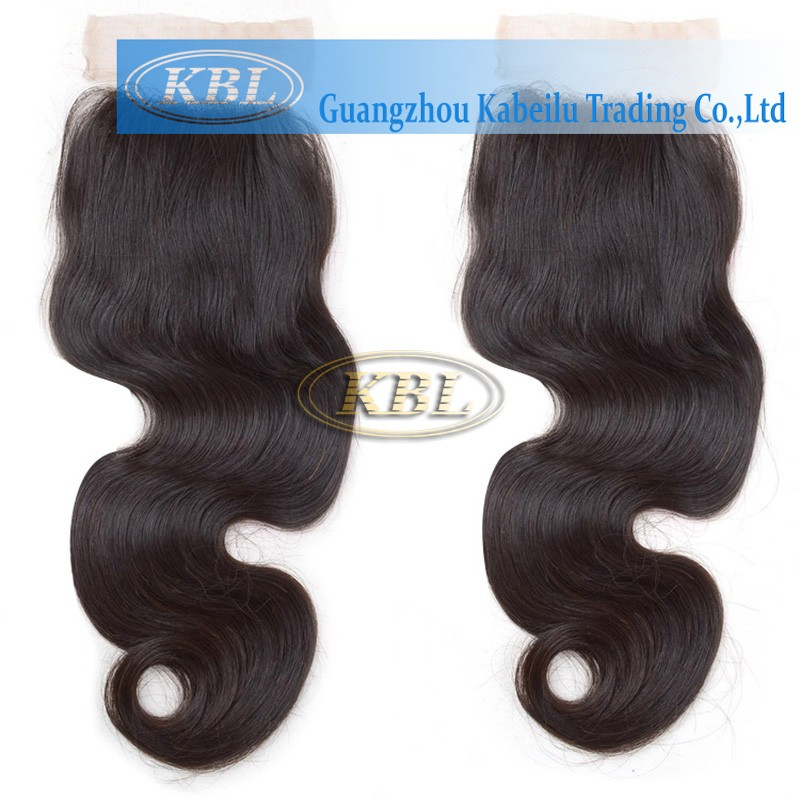 KBL hair products remy bangs lace closure side