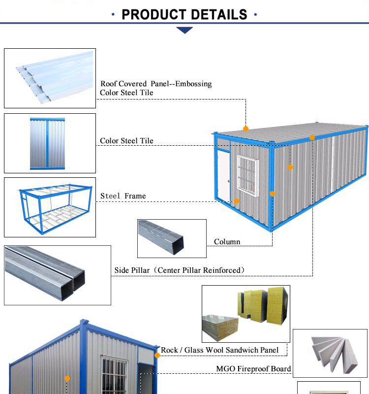 Low Cost Finished Flat Pack Expandable Container House