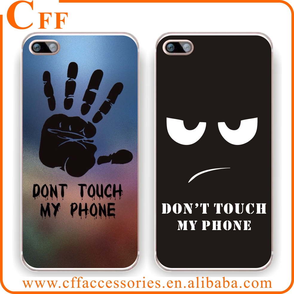 Do Not Touch My Phone Funny Fitting Skin Crystal Soft Clear TPU Case for iPhone 7 7PLUS 6s 6s 5s 5 cover Funda