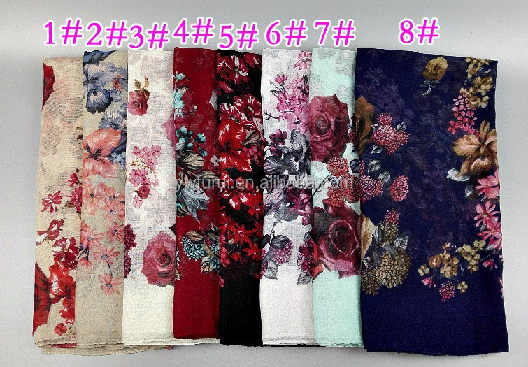 Hot Sale Women Prints Viscose Scarfs Head Band Hijab Muslim Scarves Long Shawls Large Size 180*90cm