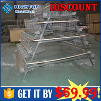 satinless steel metal quail cage for laying hens