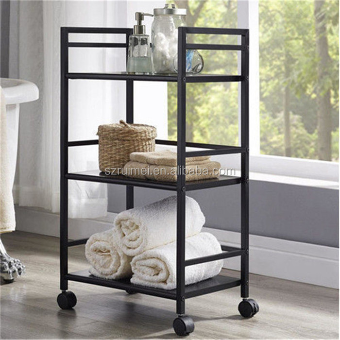 Removable 3-Tier Free Standing Wrought Iron Lowes Corner Shelf