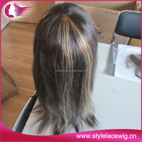Factory supply new products highlighted human hair full lace wigs