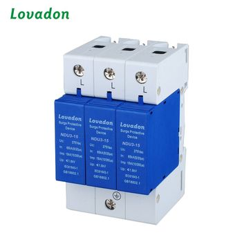 3P Lightning current arrester 15kA surge protection device