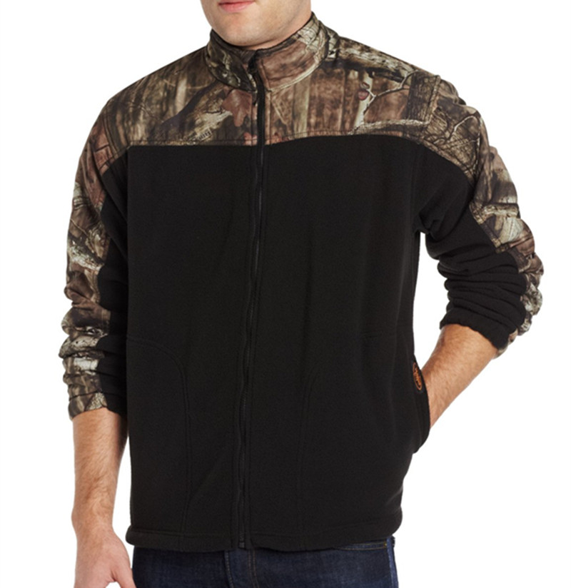 Wholesale mens hunting polar fleece jacket