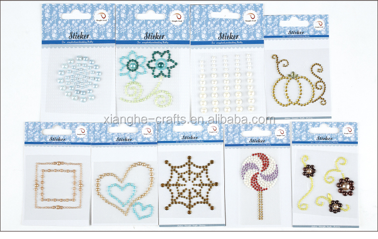 decorative flower pearl stickers for mirrors and crafts decorations