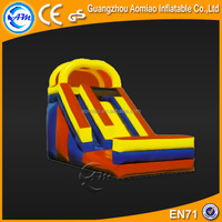 Popular game simple children slide, exciting inflatable water slide clearance