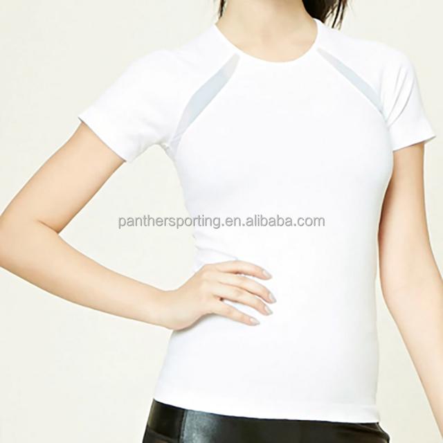 New Hot Sexy Stylish Women White Short Sleeve Shirt Manufacture T-shirt Made in China
