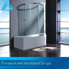 Quality Guaranteed Custom Fitted Polished Bathtub Sliding Shower Screens