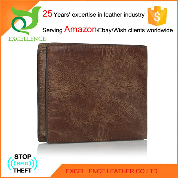 Old Fashion Wallet Genuine Leather Wallet Rfid Wallet OEM/ODM Factory 25 Years' Experience