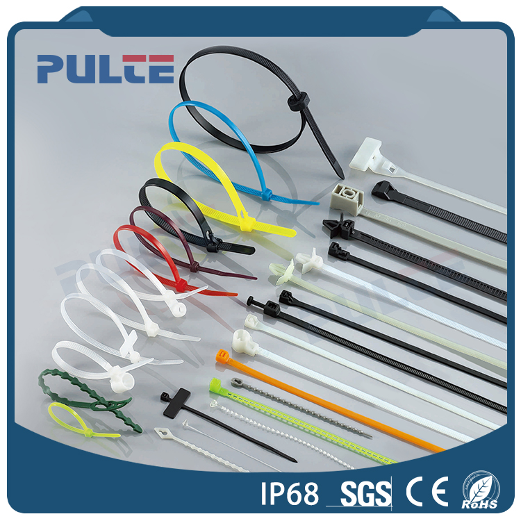 PULTE high quality self locking velcro plastic nylon cable tie