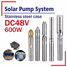 DC brushless motor 100% Solar powered deep well home use solar water pump price list