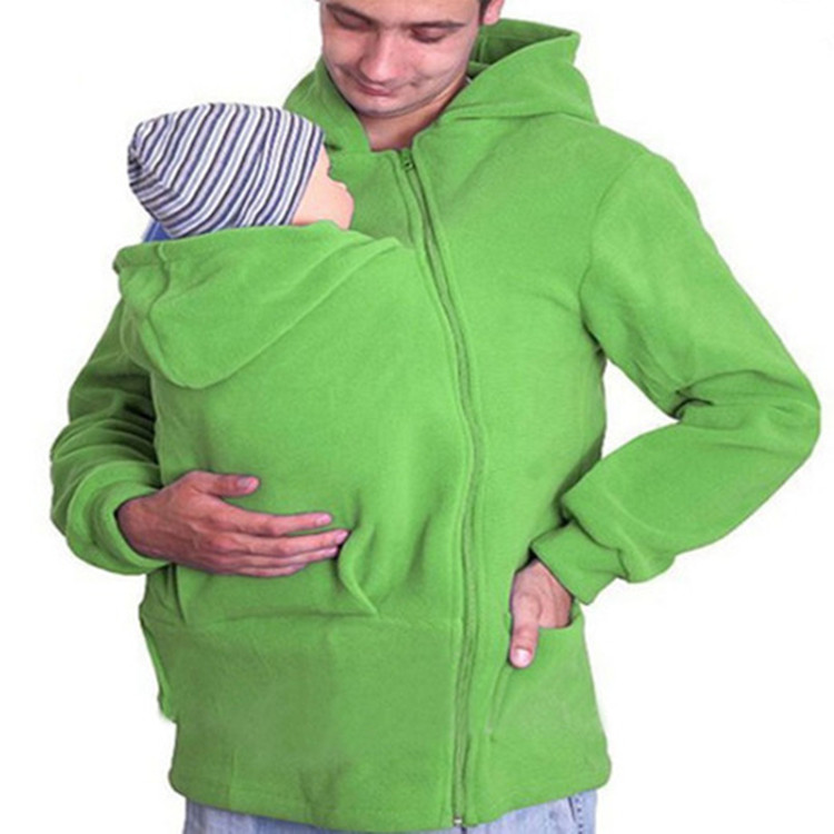Cheap Multifunctional Front Zipper Fleece Baby Carrier Hoodie(A1300)