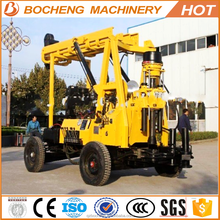 Easy Operation Flow!deep water well drilling rigs with wheel chassis device