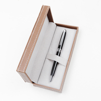 2018 New Year Gift Color Black Metal Ball Pen with Gift Box for Men