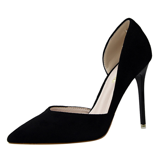 Colorful Women Pointed Toe High <strong>Heel</strong> 2016 Latest Sexy Lady Side Hollow Dress Shoes