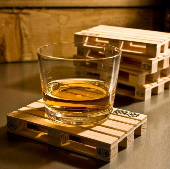 "wholesale custom sublimation mini wood pallet coasters for drink"""