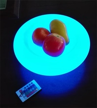 Pretty led RGB colored plastic serving trays led fruit plate
