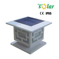 hot sell good quality european style square solar garden fence gate pillar lights with aluminum waterproof material