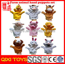 Promotion hand puppets farm animals hand puppets for sale