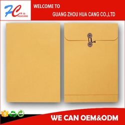 Kraft paper document bag foldable envelope type