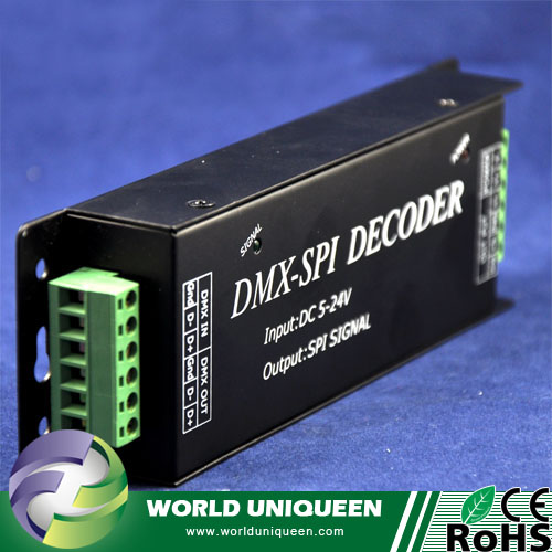Support IC LDP6803 WS2801 TM1812 WS2811 SPI Signal To DMX512 Decoder