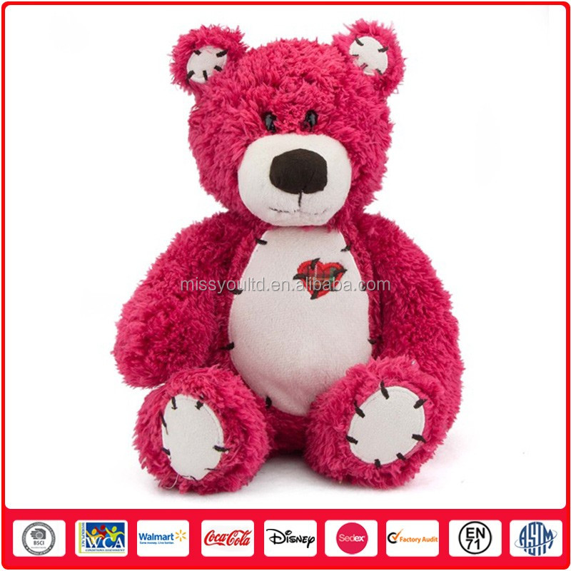 Direct Manufacturer Plush Rose Cashmere Teddy Bear For Christmas