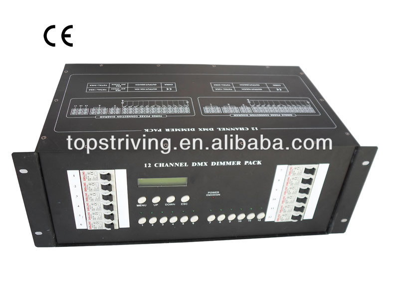 12ch dimmer pack lighting controller dj equipment of 12 channel dmx dimmer pack controller