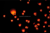 white paper chinese lanterns sky fly candle lamp for wish party weddingfdecoration