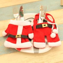 Christmas Decorations Knife And Fork Sets Wine Bottles Covers