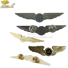Collar Pins for Shirts Custom Metal Pilot Wings Die Cast Pin Badge