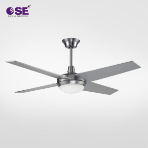 "New 52"" outdoor big decorative LED light ceiling fan with remote control"