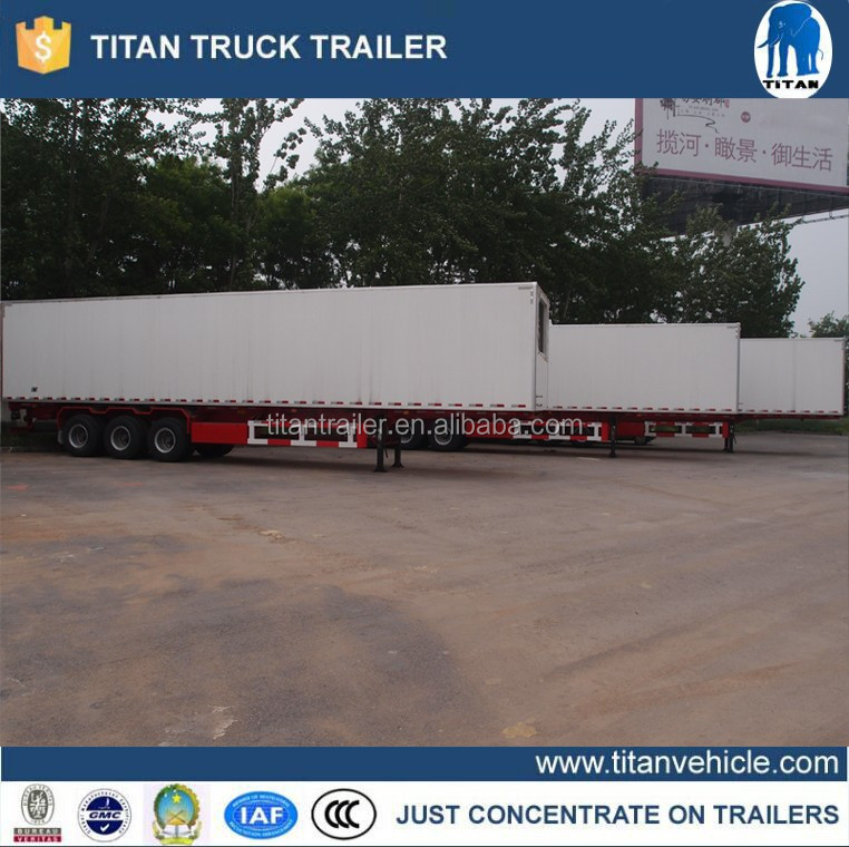 Freezer food semi trailer , Refrigerated insulated cargo trailer