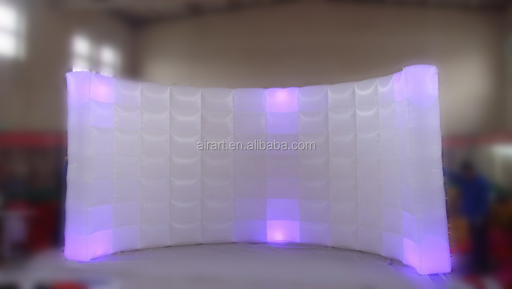 led inflatable backdrop for photo booth/inflatable