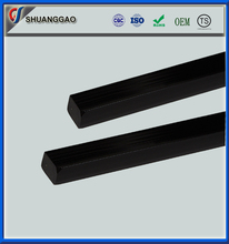 custom made high temperature plastic black teflon PTFE square rod