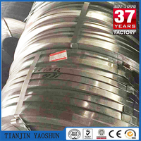 GI galvanized steel strips in coil/Black Bainted/Blue Steel Metal Strapping/Steel Packing Strip