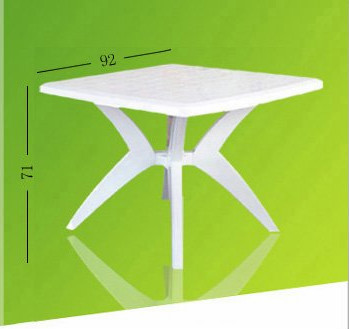 2016 Hot selling white fashionable design plastic outdoor funiture table/chair