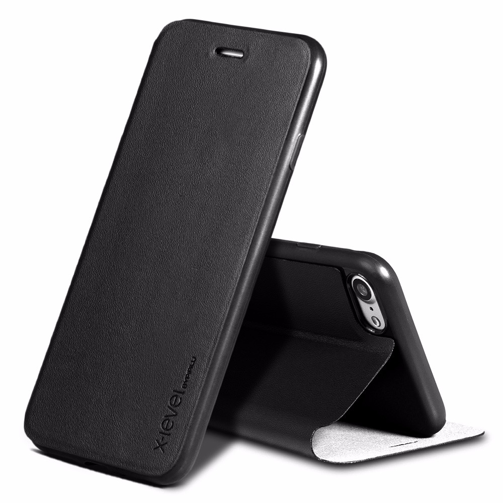Xlevel Phone Accessories Mobile Leather Cases for iPhone 7, Stand Mobile Flip Cover Case for iPhone 7