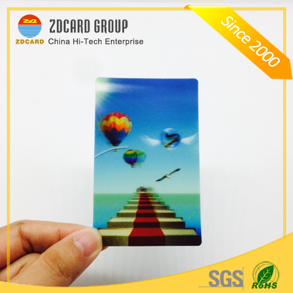 Printed PET 0.4mm Thickness 3D Lenticular Card