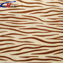 zebra-stripe super soft and comfortable 100% Polyester Imitate printed Velvet fabric for garment and home textile