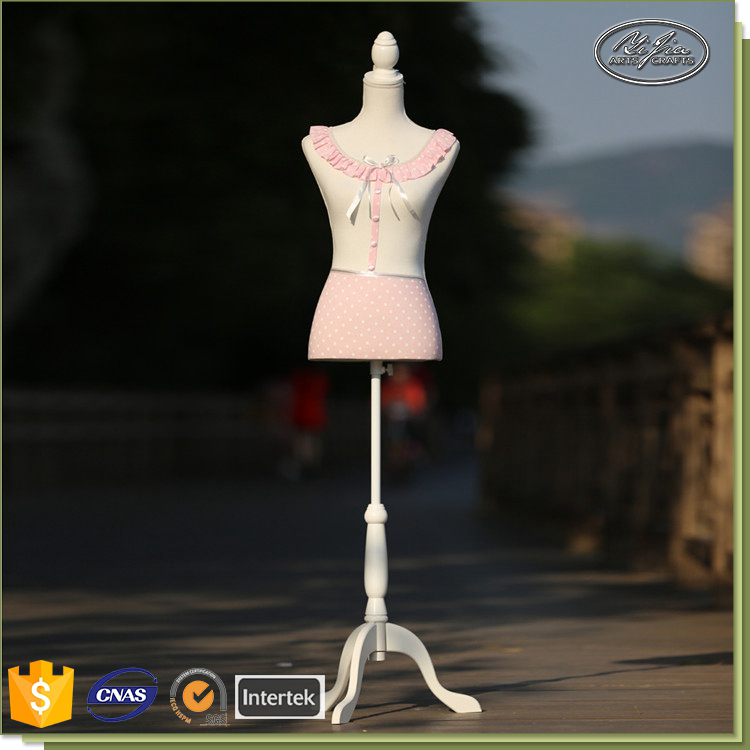 Pink Fabric Cover Half Body Tailoring Mannequin For Wedding Dress, Fabric Dress Form Mannequin, Dressmaker Dummy