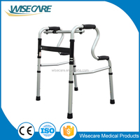 Rehabilitation equipment Aluminum folding elderly Walker Rollator Disabled walking cane