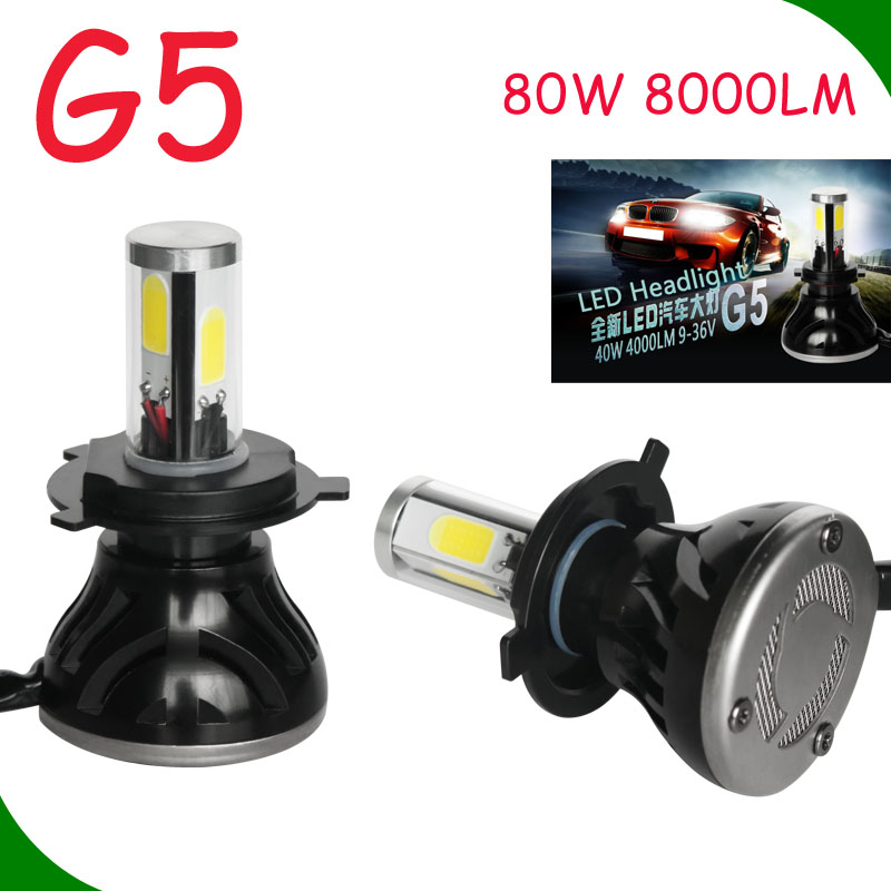 High power auto led lighting car 80w h7 g8 led headlight 12v 24v led headlight kit h1 h3 h4 h7 h8 h9 h11 9004 9005 9006 9007 880